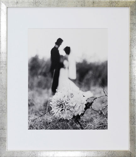 Framed Black and White Wedding Photo