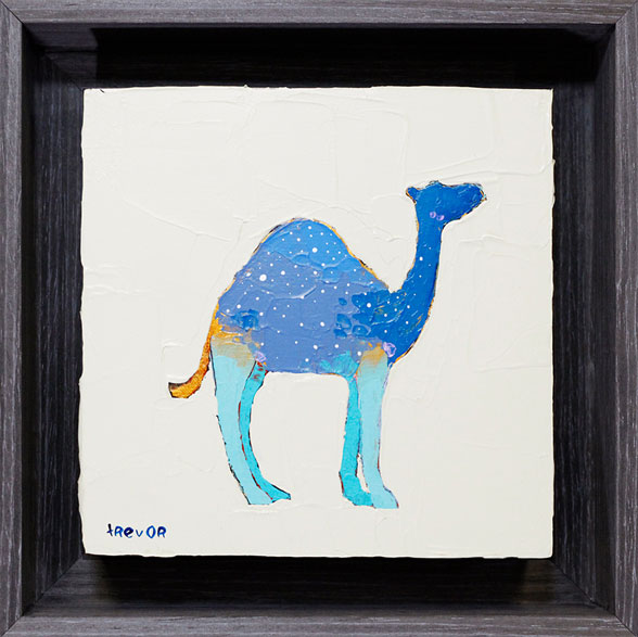 Framed Camel Painting