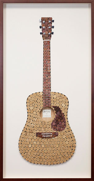 Framed Cork Guitar