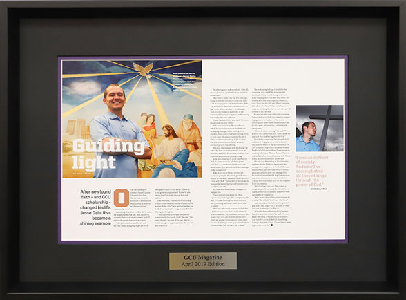 Framed GCU Magazine