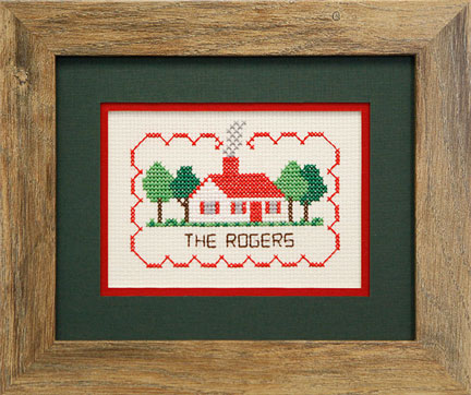 Framed Rogers Needlepoint