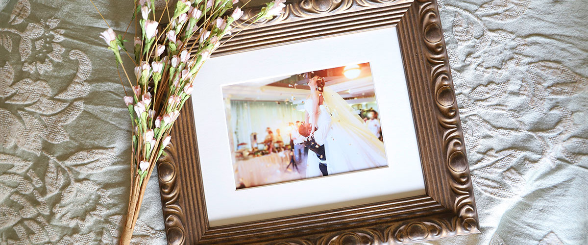 Framed Wedding Photo