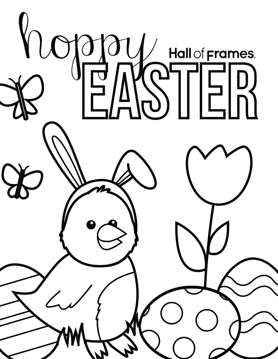 Easter Coloring Page Blank